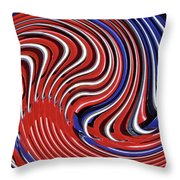 Red White And Blue Throw Pillow by Sarah Loft