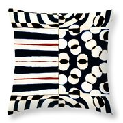 Red White Black Number 1 Throw Pillow by Carol Leigh