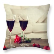 Red Wine Throw Pillow by Amanda And Christopher Elwell