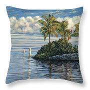Reef Channel Throw Pillow by Danielle  Perry