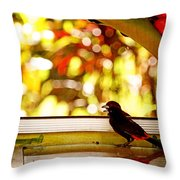 Reflecting On Beauty Throw Pillow by Peggy Collins