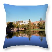 Reflection Pond Throw Pillow by Kathleen Struckle
