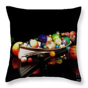 Reflections Of Glass 2 Throw Pillow by Cheryl Young