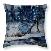 Reflections Of Winter Throw Pillow by Xueling Zou