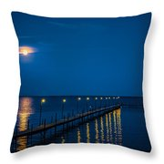 Reflections On Milacs Throw Pillow by Paul Freidlund