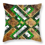 Refresh My Memory - Computer Memory Cards - Electronics - Abstract Throw Pillow by Andee Design