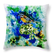 Reina Mora Throw Pillow by Zaira Dzhaubaeva