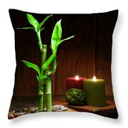 Relaxation and Meditation  Throw Pillow by Olivier Le Queinec