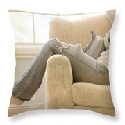 Relaxed Throw Pillow by Margie Hurwich