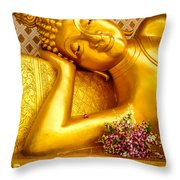 Relaxing Contemplation  Throw Pillow by Allan Rufus