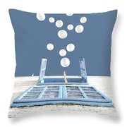 Release Throw Pillow by Cynthia Decker