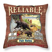 Reliable Guide Service Sign Throw Pillow by JQ Licensing