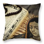 Religious Concept Throw Pillow by Aged Pixel