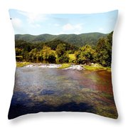 Remembering Mendota Throw Pillow by Karen Wiles
