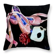 Remnants Of The Dance Throw Pillow by Susan Duda