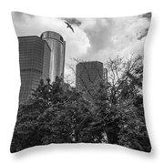 Renaissance Center In Detroit Throw Pillow by John McGraw