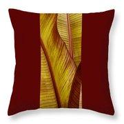Repose - Leaf Throw Pillow by Ben and Raisa Gertsberg