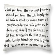 Rescue Love Throw Pillow by Andee Design
