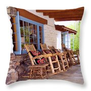 Reserved Seating Palm Springs Throw Pillow by William Dey