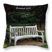 Rest For The Weary Throw Pillow by Sara  Raber