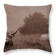 Resting Beasts Throw Pillow by Linsey Williams