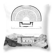 Restoration Of The Greek Theater Throw Pillow by Photo Researchers