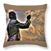 Rev. Father William E. Corby C S C - Blessing The Troops Of The 88th New York Infantry Irish Brigade Throw Pillow by Michael Mazaika