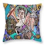 Revelation Chapter 5 6-14 Throw Pillow by Anthony Falbo
