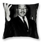 Reverend King Throw Pillow by Benjamin Yeager