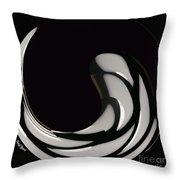 Reverse Yin Yang Throw Pillow by Cheryl Young