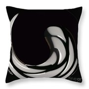 Reverse Yin Yang Throw Pillow by Cheryl Young