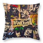 Revolutionary Hip Hop Throw Pillow by Tony B Conscious