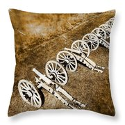 Revolutionary War Cannons Throw Pillow by Olivier Le Queinec