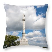 Revolutionary War Monument At Yorktown Throw Pillow by John Bailey