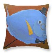 Rhapsody In Blue Throw Pillow by Marina Gnetetsky