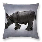 Rhinoceros Throw Pillow by Bernard Jaubert