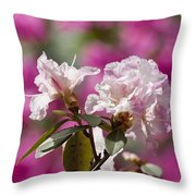 Rhododendron Throw Pillow by Steven Ralser