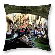 Rhythm Of Venice Throw Pillow by Jennie Breeze