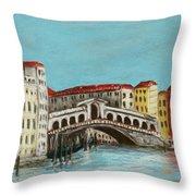 Rialto Bridge Throw Pillow by Anastasiya Malakhova