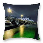 Green Waters Throw Pillow by EXparte SE