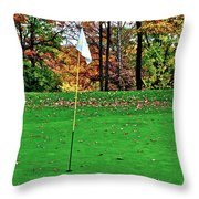 Ridgewood Golf And Country Club Throw Pillow by Frozen in Time Fine Art Photography