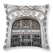 Riga Art Nouveau District 03 Throw Pillow by Antony McAulay