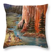 Rim Canyon Ride Throw Pillow by Marilyn Smith