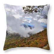 Ring Around the Mountain Throw Pillow by Susan Leggett
