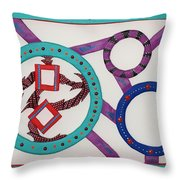 Ring Of Fire Throw Pillow by Robert Margetts