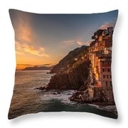 Riomaggiore Rolling Waves Throw Pillow by Mike Reid