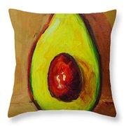 Ripe Avocado Throw Pillow by Patricia Awapara