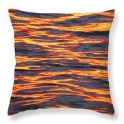 Ripple Affect Throw Pillow by Karen Wiles