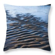 Ripples In The Sand Throw Pillow by Anne Gilbert