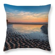 Ripples In The Sand Throw Pillow by Debra and Dave Vanderlaan